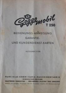 Glas Goggomobil T 250 Bedienungsanleitung 1955