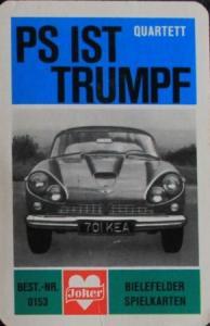"Bielefelder Spielkarten ""PS ist Trumpf"" Kartenspiel 1963"