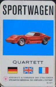 """Altenburger """"Sportwagen"""" Kartenspiel 1967"""