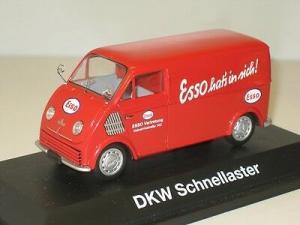 """Schuco DKW Schnelllaster """"Esso hat's in sich"""" 1953 Metallmodell in Originalbox"""
