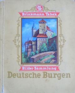 """Brinkmann Tabak """"Deutsche Burgen"""" Sammelbilder-Album 1932"""