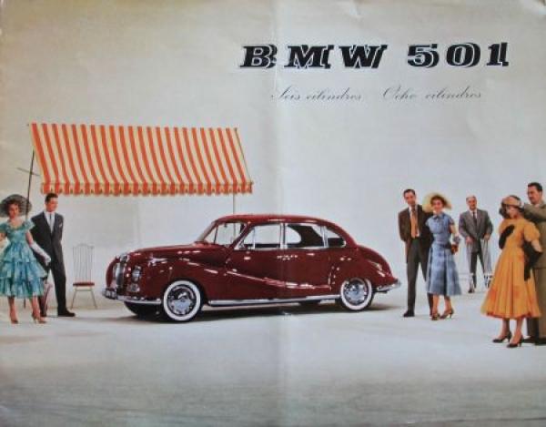 BMW 501 Modellprogramm 1955 Automobilprospekt Nr. 3867 ...