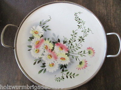 Wundeschöne alte Tortenplatte Art Deco Spritzdekor Keramik
