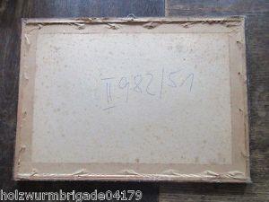 Alter Biedermeier Bilderrahmen mit Glas Druck eines Pärchens 36 x 25,5 cm 6