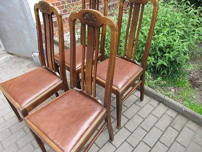 Vier Stühle Jugendstil  um 1910  Eiche 2