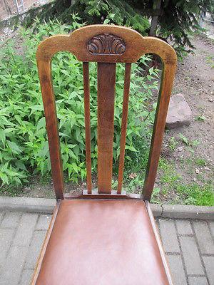 Vier Stühle Jugendstil  um 1910  Eiche 4