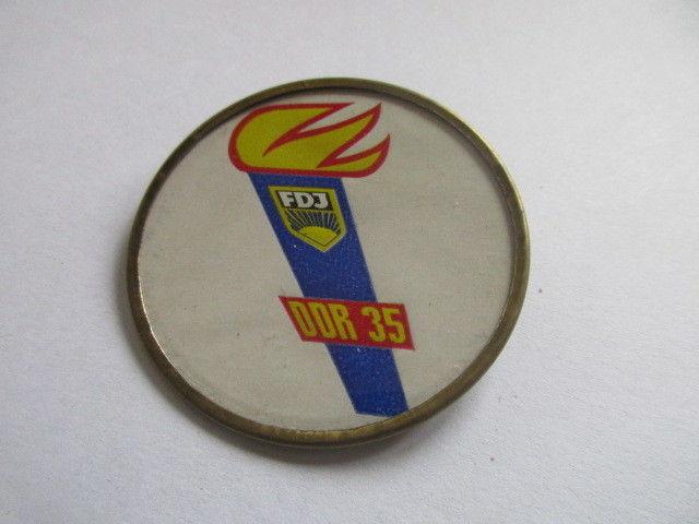 DDR Abz.  FDJ  fackelzug der FDJ Berlin 1984