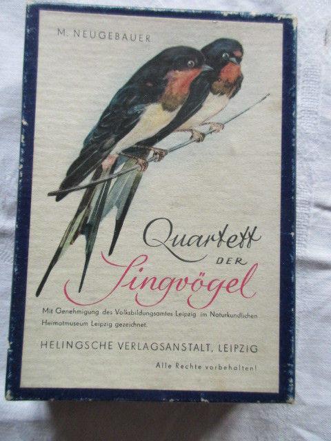 Altes Quartett Singvögel N. Neugebauer Helingsche Verlagsanstalt Leipzig um 1960
