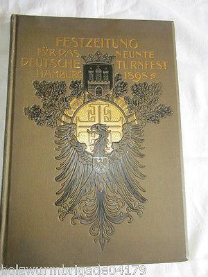RARITÄT Festzeitung für das 9. deutsche Turnfest in Hamburg 1898 Prachtausgabe
