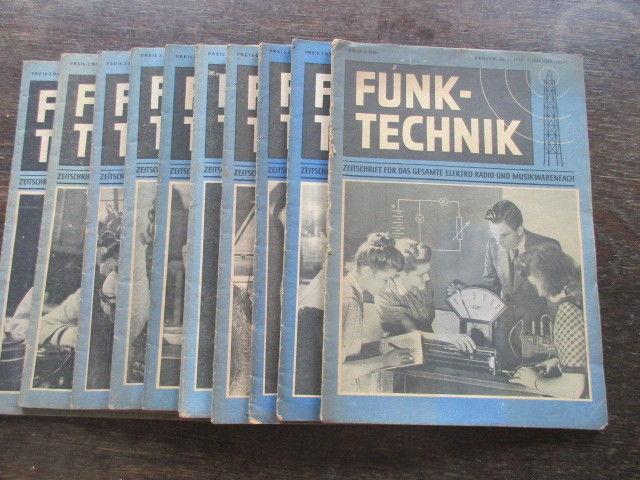 Funktechnik Zeitschrift Heft 1 bis 10 von 1949