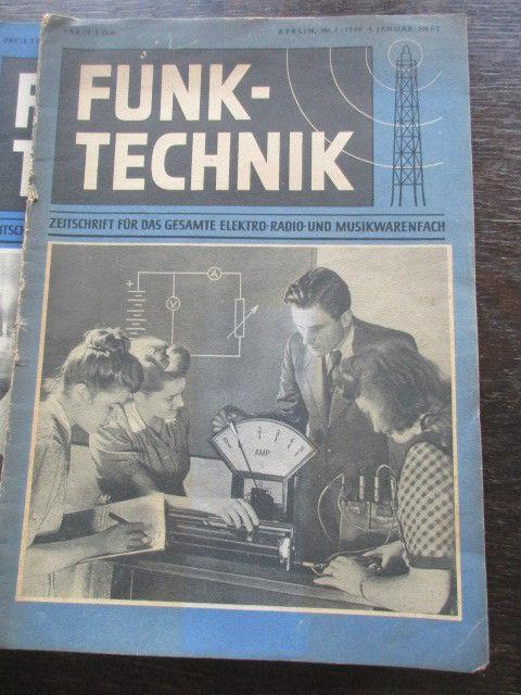 Funktechnik Zeitschrift Heft 1 bis 10 von 1949 1