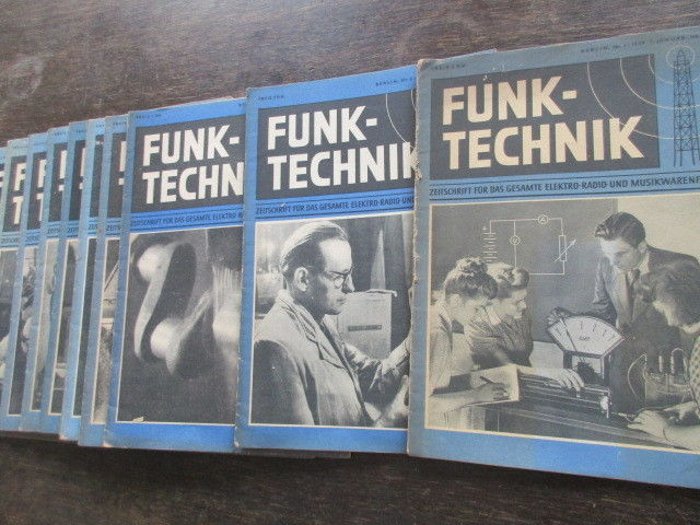 Funktechnik Zeitschrift Heft 1 bis 10 von 1949 2