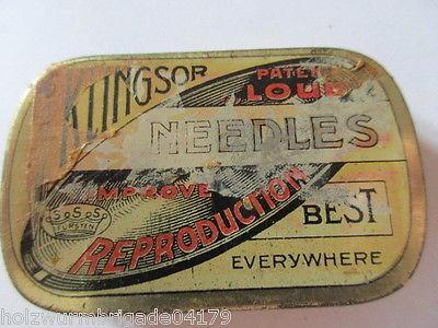 Seltene alte Grammophon Nadel Dose Klingsor Patent Loud Original Dose