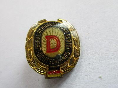 DDR Abzeichen LDPD Liberal-Demokratische Partei   Ehrenzeichen Polyester