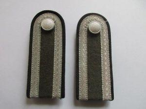 NVA 1 paar Schulterstücke Unteroffizier Pioniere schwarz  alte Form