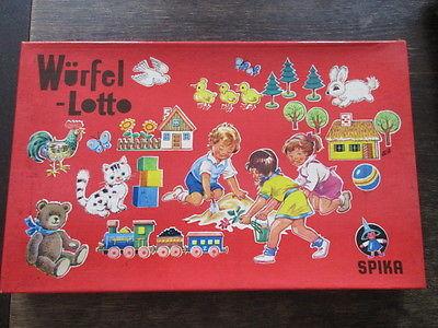 Spika altes Brettspiel Würfelspiel WÜRFEL LOTTO Komplett 1974