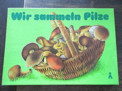 Plasticart altes Würfelspiel Brettspiel WIR SAMMELN PILZE Komplett 1982
