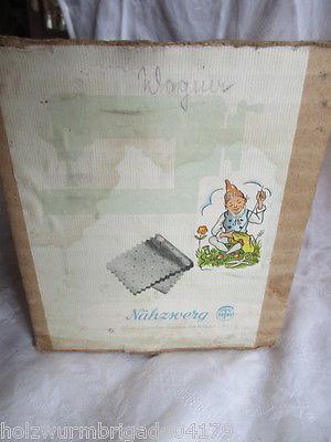 DDR Blech Kinder Nähmaschine Spielzeug NTW Dresden OVP 60er Jahre 7
