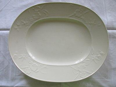 KPM Berlin Rocaille ovale Platte Beilagenplatte weiss Biedermeier um 1830