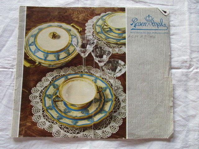 TOPRARITÄT Rosenthal Figuren Vasen Teller Service Werbung Katalog um 1930