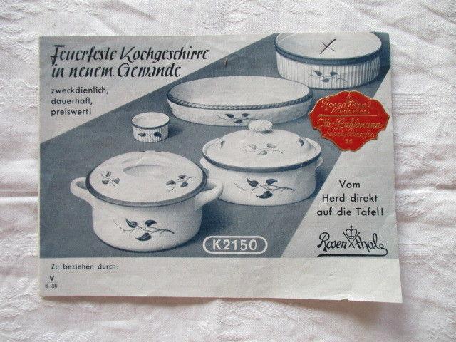 Rosenthal feuerfeste Kochgeschirre im neuen Gewande Broschüre Katalog Werbung