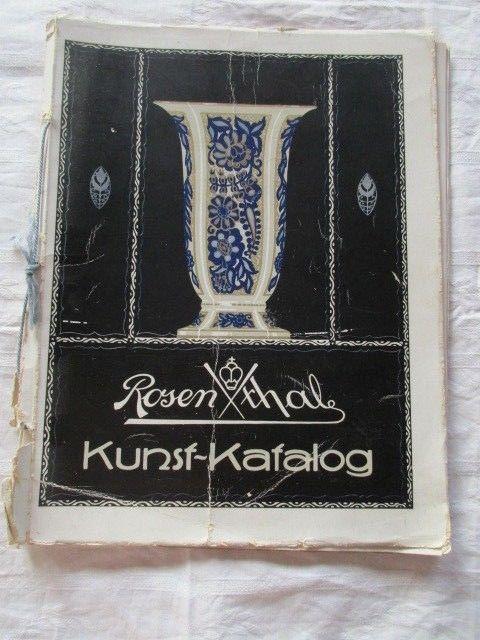 TOPRARITÄT Rosenthal Kunst Katalog um 1930