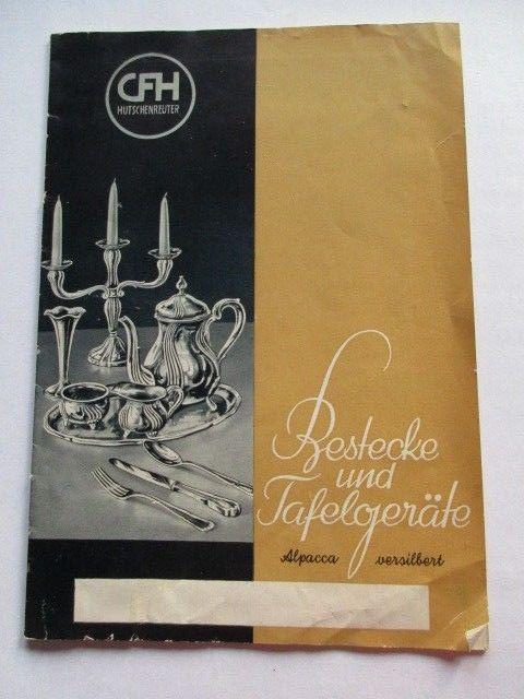 Katalog CFH Hutschenreuther Aue Bestecke und Tafelgeräte Tafelsilber um 1920 alt