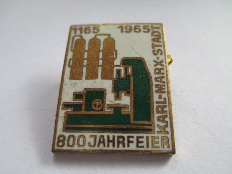 DDR Abzeichen 800 Jahre Karl-Marx-Stadt  1965      ( 2 )