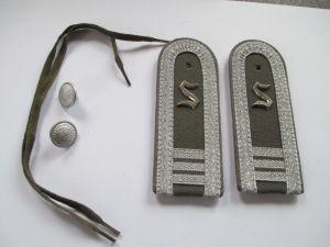 NVA 1 paar Schulterstücke Offiziersschüler  3 Jahr   Luftverteidigung
