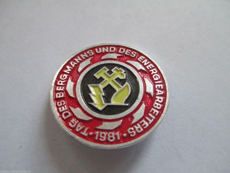 DDR Abz. Tag des Bergmanns  1981