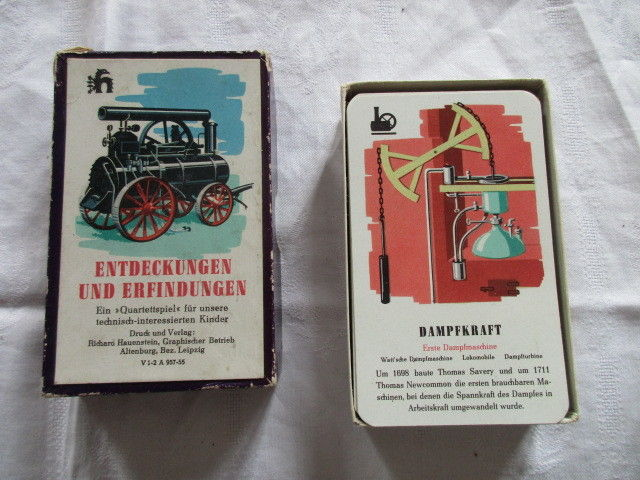 Altes Quartett Entdeckungen und Erfindungen Richard Hauenstein Altenburg 1955