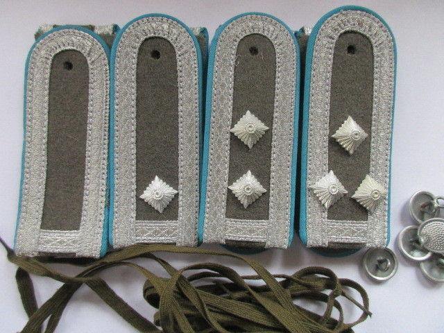 NVA  4 paar Schulterstücke Unterfeldwebel - Stabsfeldwebe Luftstreitkräfte blau