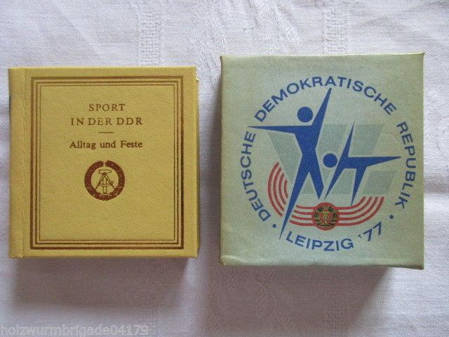Minibuch Sport in der DDR Alltag und Feste Leipzig 1977