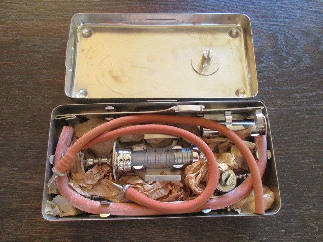 TOPRARITÄT B. Braun Melsungen Bluttransfusion Set speziell für Fronteinsatz 1940