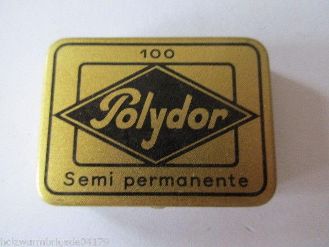 Seltene alte Grammophon Nadeln 100 Polydor Semi permanente Original Dose