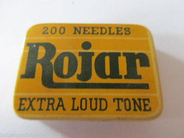 Seltene alte Grammophon Nadeln 200 Needles Rojar Extra Loud Tone Original Dose