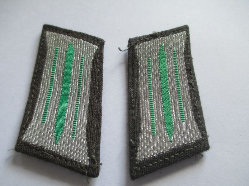 NVA Kragenspiegel Grenztruppen der DDR grün