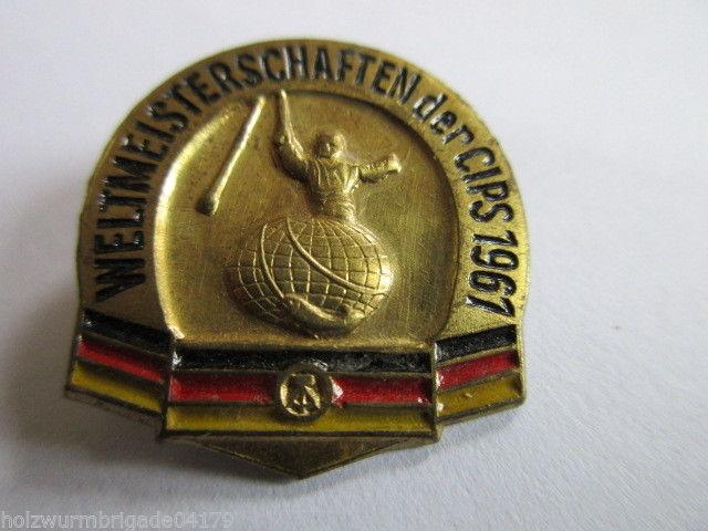 DDR Abzeichen Weltmeisterschaften der CIPS  1961  DDR