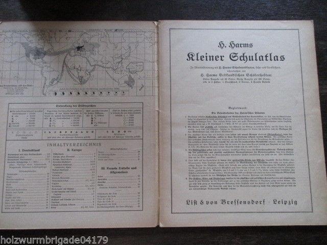 Harms kleiner Schulatlas List & Bressensdorf Leipzig um 1918
