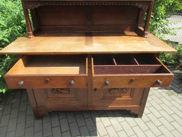 buffet anrichte mit aufsatz eiche jugendstil um 1910 nr 253503753806 oldthing anrichten. Black Bedroom Furniture Sets. Home Design Ideas