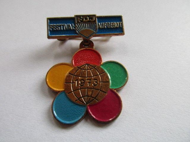 DDR FDJ Abz. für ausgezeichnete Leistungen im Festivalaufgebot der FDJ  1973