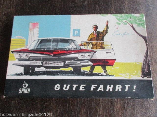 SPIKA Gute Fahrt !  Verkehrsspiel aus den 40er Jahren vollständig guter Zustand