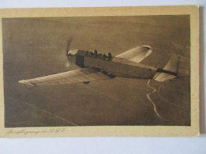 Ak Sportflugzeug des DLV  Flieger Landesgruppe Ortsgruppe Reichenbach um 1940