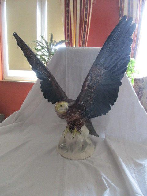 XXL Porzellan Figur Adler Thüringen Katzhütte 47 cm x 47 cm