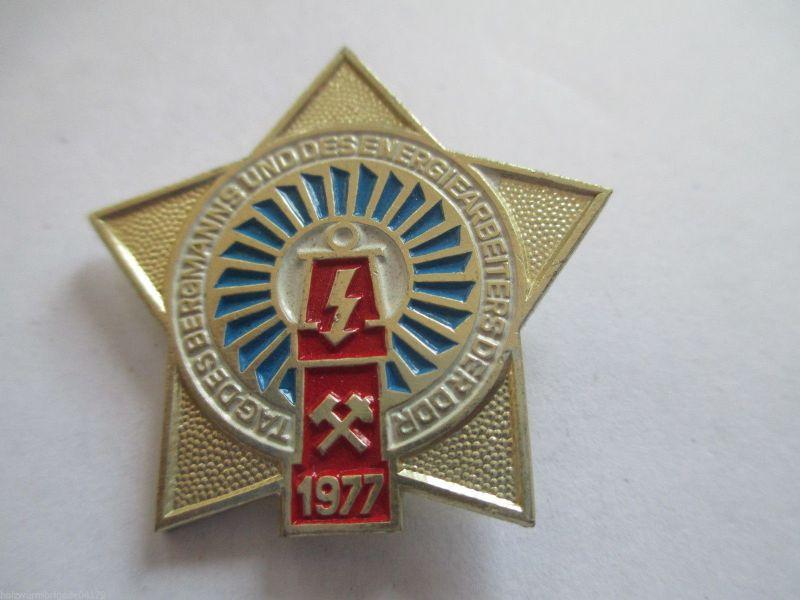 DDR Abz. Tag des Bergmanns  1977