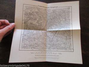 Seltene Landkarte Truppenübungsplatz Königsbrück 1932 gestempelt Minenwerfer Kom