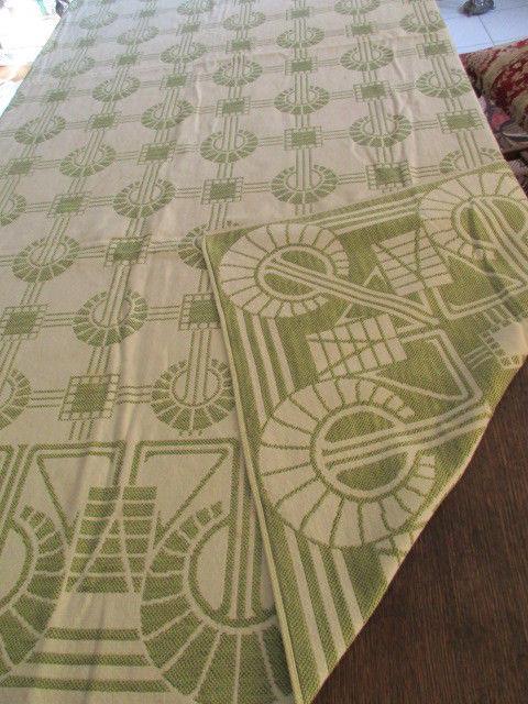 Traumhafte alte Leinen Damast Tischdecke Tafeltuch feinstes Jugendstil Grafik 5