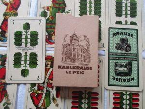 Skatkarten Flemming Wiskott Spielkartenfabrik Glogau Karl Krause Leipzig um 1930