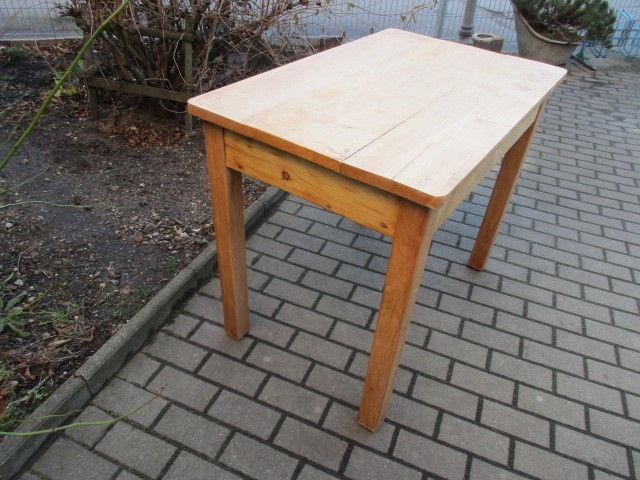 Alter Tisch Esstisch Jugendstil Weichholz um 1900  Nr.16 4