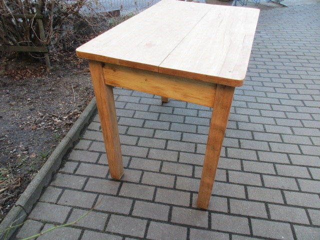 Alter Tisch Esstisch Jugendstil Weichholz um 1900  Nr.14 1
